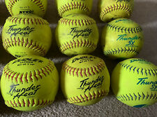 12 USED Dudley NFHS Thunder Heat 12-Inch Fast Pitch Softball .47/375 12 Y FP
