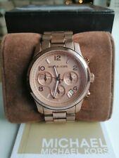 Michael Kors Runway Rose Gold Tonę Chronograph Ladies Watch MK 5128
