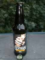 "ELYSIAN ""The Immortal IPA"" Craft Micro Brew, Long Neck, Beer Bottle w/Free Cap"