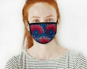 Personalised Face Mask Cover Protective Covering Washable Reusable Customised