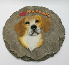 """I Love My Beagle Stepping Stone or Wall Plaque 9.5"""" Spoontiques Outdoor Decor"""