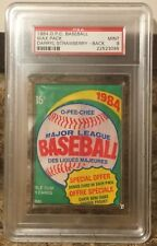 1984 O-Pee-Chee Wax-Pack - PSA 9, with Strawberry on back!