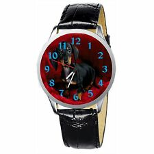 Dachshund Puppy Stainless Wristwatch Wrist Watch