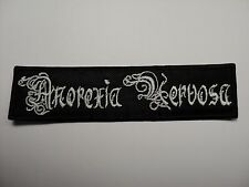 ANOREXIA NERVOSA LOGO WHITE    EMBROIDERED PATCH