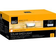NEW GARDEN COLE & BRIGHT SOLAR POWERED SHED LIGHT EASY TO USE NO MAINS WIRING