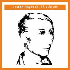 JOSEPF HAYDN Wandtatoo, ca. 35 x 30 cm, Hochleistungsfolie mit Montagepapier
