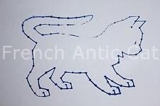 Ancien grand tampon scolaire bois plastique animal chat 11,5*8 cm studia AA136