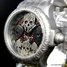 Invicta Bone Collector Distressed Chronograph Artist Silver 48mm Watch New