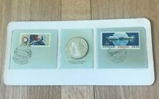 Franklin Mint Sterling Silver Partners in Space - USSR and USA Medal In Package
