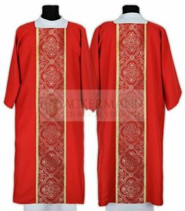 Red Gothic Dalmatics with matching deacon stole DC14-C us