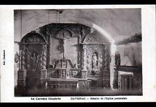 DAVIGNAC (19) RETABLE de l'EGLISE en 1946