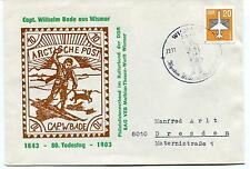 Capt. Wilhelm Bade aus Wismar Arctische Post Polar Antarctic Cover