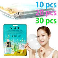 [Malie] ALOE Facial Mask Sheet Essence 0.88oz. 10-30pcs Korean Beauty Cosmetics