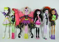 """LOT of 6 Monster High 11"""" Dolls with Outfits& Shoes - Bonita Spectra Venus"""