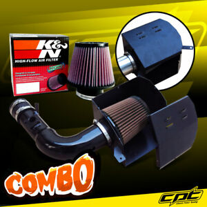 For 13-20 Scion FRS BRZ 2.0L 4cyl Black Cold Air Intake + K&N Air Filter
