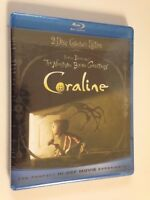 Coraline 2D & 3D(Blu-ray/DVD, 2009),w/ glasses, (NEW)