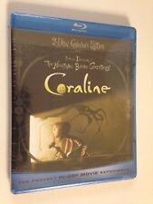 Coraline 2D & 3D(Blu-ray/DVD, 2009),w/ glasses, & Itunes SD Digital Copy