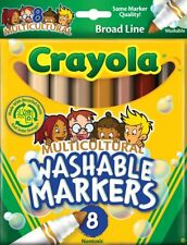Crayola 7801 Multicultural Washable Markers Color Max 8 Pack Broad Line Art NEW!