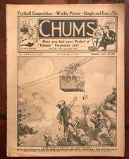 Chums Vintage Antique Magazine November 1913 GWR Flying Dutchman pic inside.