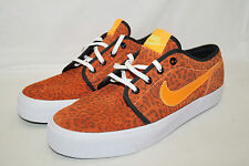 Nike le Low Low Leather Taille 42,5 UK 8 Orange 599452-810 échantillons animal print