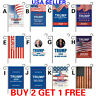 """12x18"""" Donald Trump 2020 Garden Flag Double Sided Keep America Great  No More BS"""