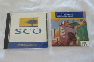 Original UNIX  SCO OpenServer Release 5 CD + Advertisement Booklet
