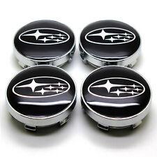 4Pcs 60mm Black Wheel Center Caps Hub Cap Emblem Badge Fit For Impreza  Forester