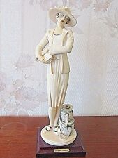 """G. ARMANI Figure Figurine Statue Sculpture """"Mabel"""" Lady with Luggage"""