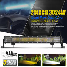29'' Inch 3024W Auto LED Light Bar Spot Flood Offroad Truck Car ATV Quad 32