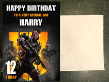 Personalised Call Of Duty Black Ops 4 Birthday Card any name/age/relation