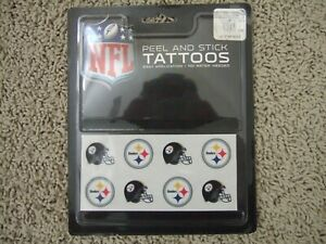 Rico NFL Football Pittsburg Steelers Face Tattoos Peel and Stick 8 tattoos NEW