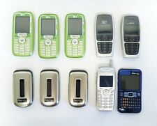 LOT OF 10 ASSORTED CELL PHONE READYMOBILE, NOKIA, SAMSUNG,SANYO,/UA12-1/12
