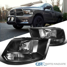 09-18 Dodge Ram 1500 2500 3500 Replacement Black Headlights Front Lamps Pair