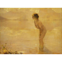 Chabas September Morn Nude Painting Canvas Wall Art Print Poster