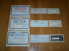 3 MICHIGAN LIQUOR COTROL LICENSE SALES TAX LICENSE INTERNAL REVENUE TAX STAMP