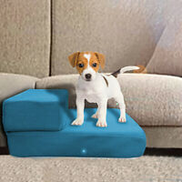 Breathable Mesh Foldable Pet Stairs Detachable Pet Bed Stairs Dog Ramp 2 Steps L