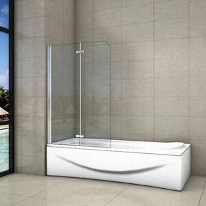 Pivot 2 Folding Bath Shower Screen Hinge Door Panel H1400mm Tempered Clear Glass