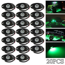 20x 9W Cree Led Rock Lights Green for Car Truck Underbody Glow Trail Rig Lamps(Fits: Neon)