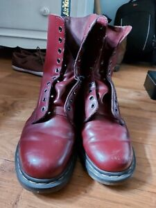Dr Martens UK Size 11 Cherry Red 10 Hole 1490