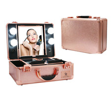 Make Up Cosmetic Organiser Travel Case Beauty Storage Box With LED Lights Mirror