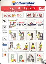 Safety Card - Nouvelair - Airbus A320 (Tunisia) (S1690)