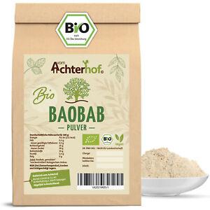 Baobab Pulver Bio   500g   Affenbrotbaum Fruchtpulver   100% Baobabpulver
