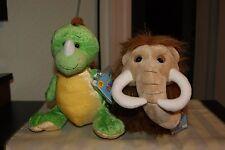 Webkinz Key Lime Dino & Wooly Mammoth SOFT-N-SNUGGLY