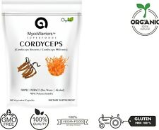 Cordyceps Sinensis | Militaris TRIPLE EXTRACT 90 Caps Organic 40% POLYSACCHARIDE