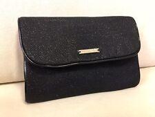 GIORGIO ARMANI Shimmer Black Pouch Clutch Evening Bag New *RARE & ELEGENT