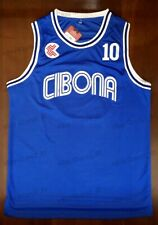 Drazen Petrovic #10 Croatia Cibona Men Basketball Jersey Stitched