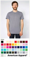 American Apparel Fine Jersey Tee 2001 ★ NEW ★ Sweatshop Free ★ made in USA