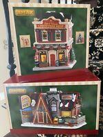 Lemax LOT NIB Set Of Two Star Wonder Of Christmas Shop & Dottie's Flapjack House
