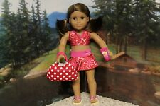 """American Girl """"Berry Skirtini & Swim Tote & Gear""""-COMPLETE-NEW (STORE EXCLUSIVE)"""