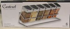 Carteret' Home Collection Gourmet Spice Rack 6pc. Set